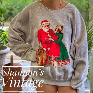Lee vintage 4XL made in USA Christmas sweater A16